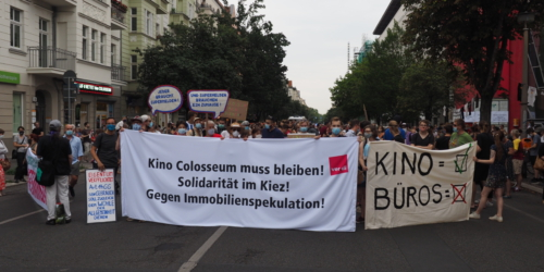 Eröffnung der Demonstration