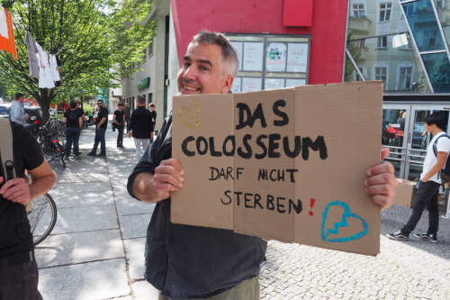 Das Colosseum darf nicht sterben - sagt auch Jörg Reichel (ver.di)